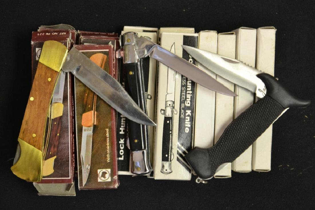 Assorted Locking Blade Knives