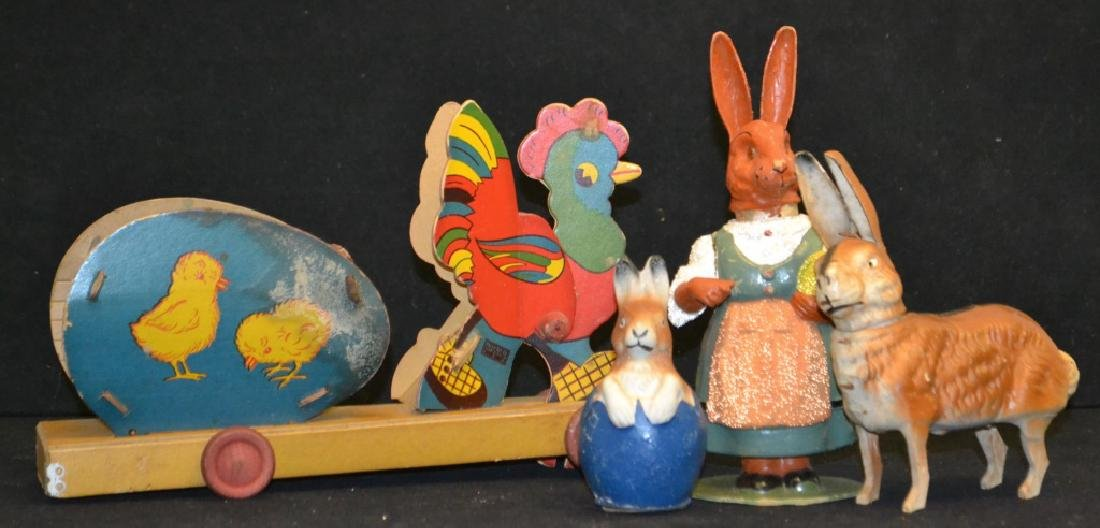 Four Early 20th C Easter Items