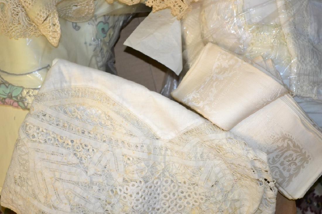 Box of Vintage Linens & Lace