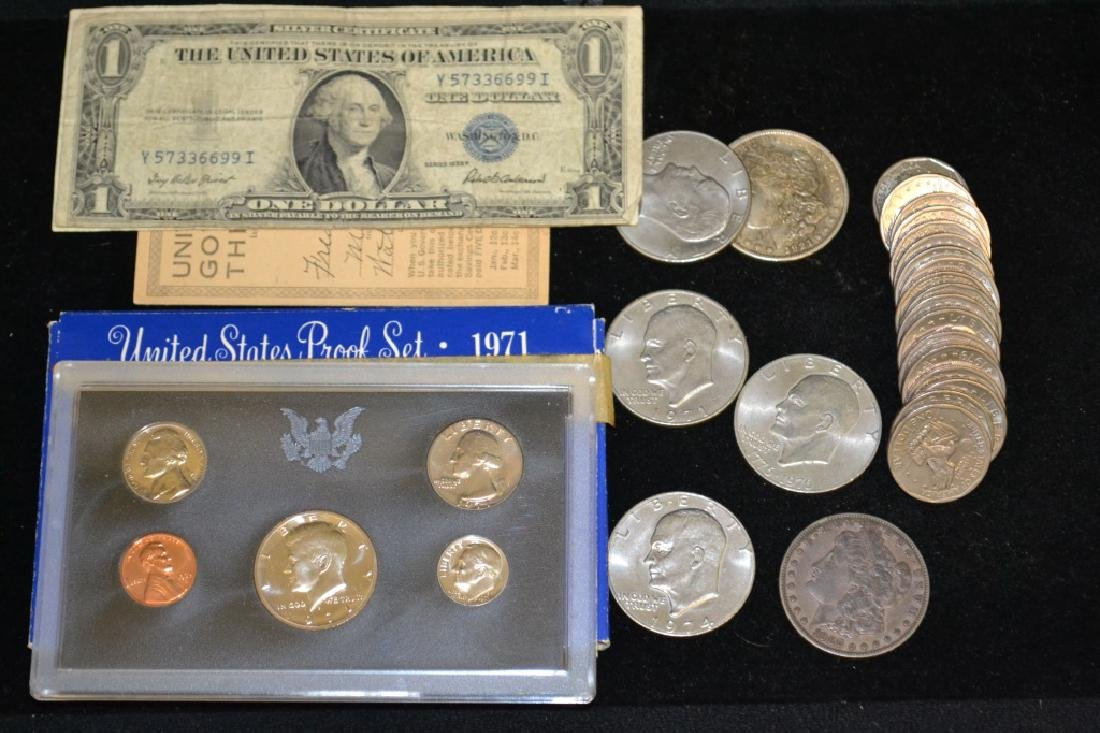 Grouping of Various American Dollars & More