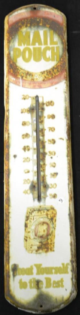 Mail Pouch Thermometer Advertising