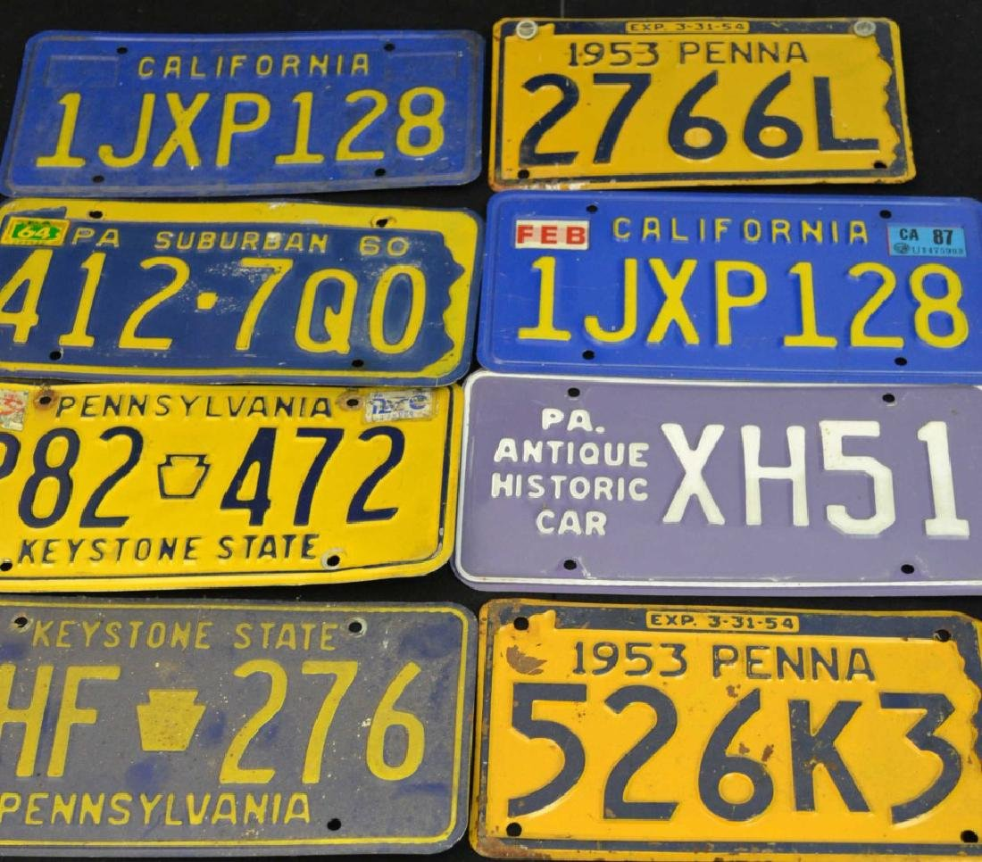 Collection of Early License Plates