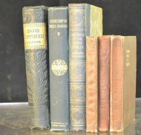 Grouping of 6 Classic Books Several by Hawthorne