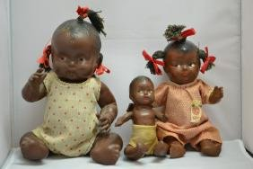 3 Topsy Black Americana Composite Dolls