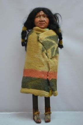 Large Early Skookum Indian Doll Carrying Baby