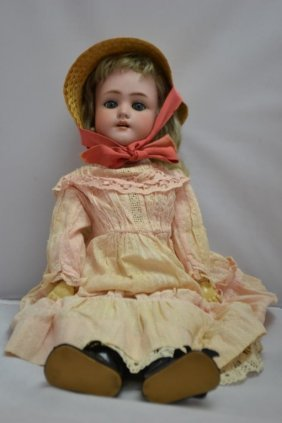 Late 19th/Early 20th C Bisque Doll
