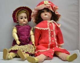 Late 19th Early 20th C German Doll Grouping