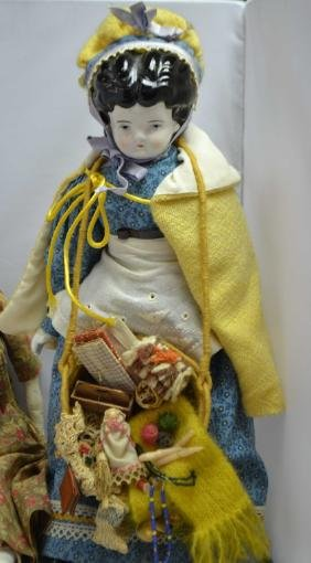 Two German Porcelain Dolls & Another