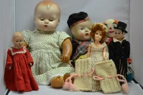 Assorted Vintage Doll Grouping