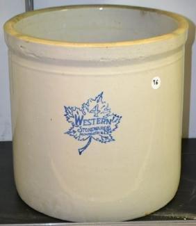 Western Stoneware Co. Crock No. 4