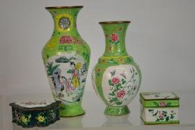 Collection Of Japanese Enamel on Copper