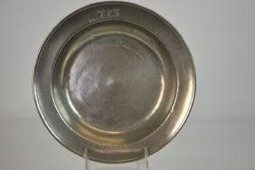 Early 19th C German Pewter Basin