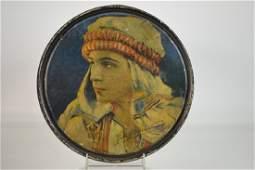Tin litho Box w Image of Rudolph Valentino