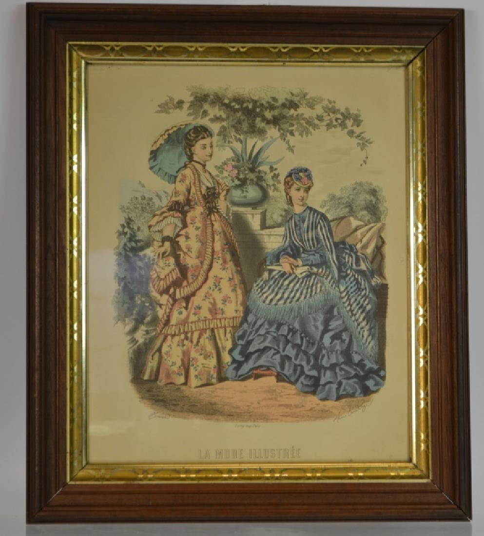 "19th C French Print, "" La Mode Illustree"" c. 1890"