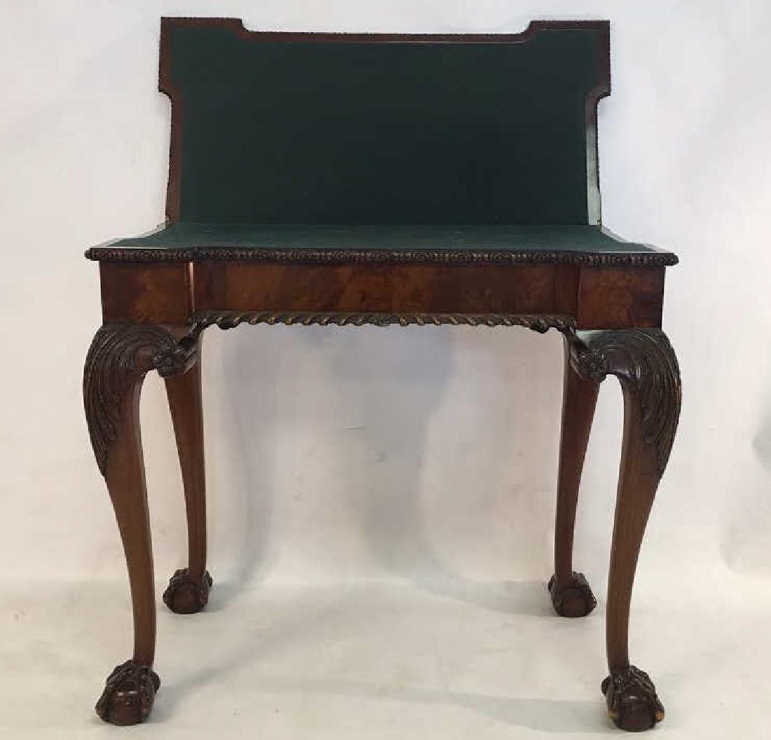 18th C English Chippendale Mahagony Gaming Table