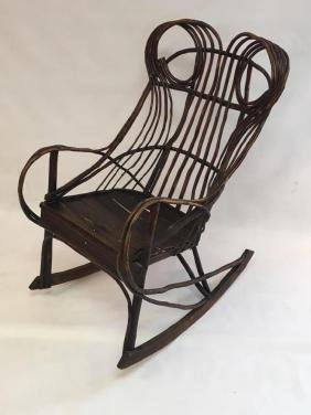 Early 20th C Adirondack Style Rocking Chair