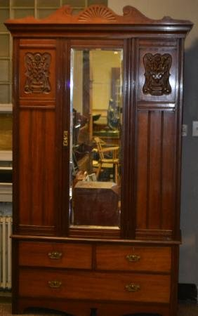 Late 19th C Walnut Armoire