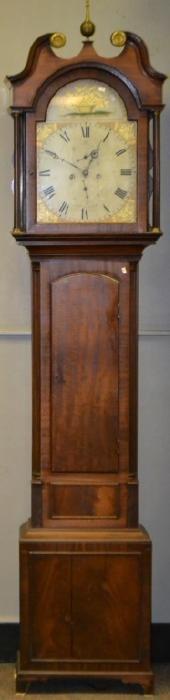 Lawson & Miller English Regency Mahogany Tall Case