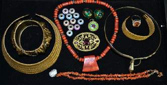 Victorian Broach & Costume Jewelry Grouping