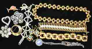 Assorted Vintage Costume Jewelry Grouping
