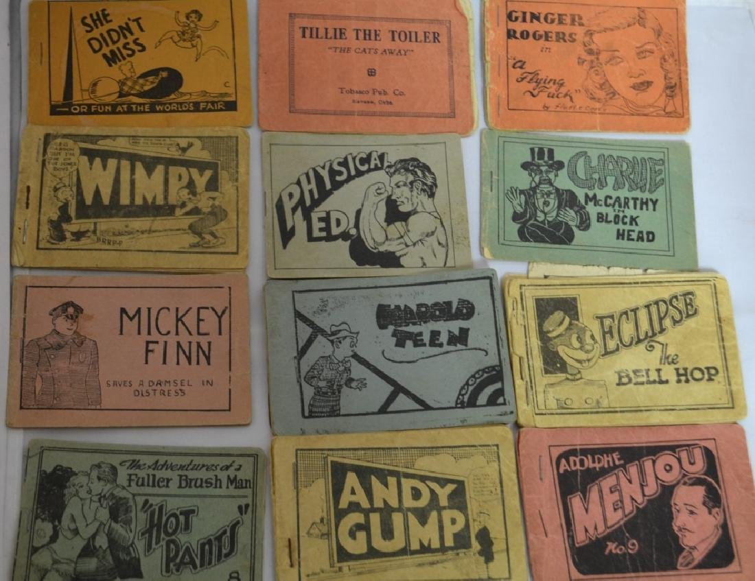 (12) Early 20th C Risque Comic Booklets