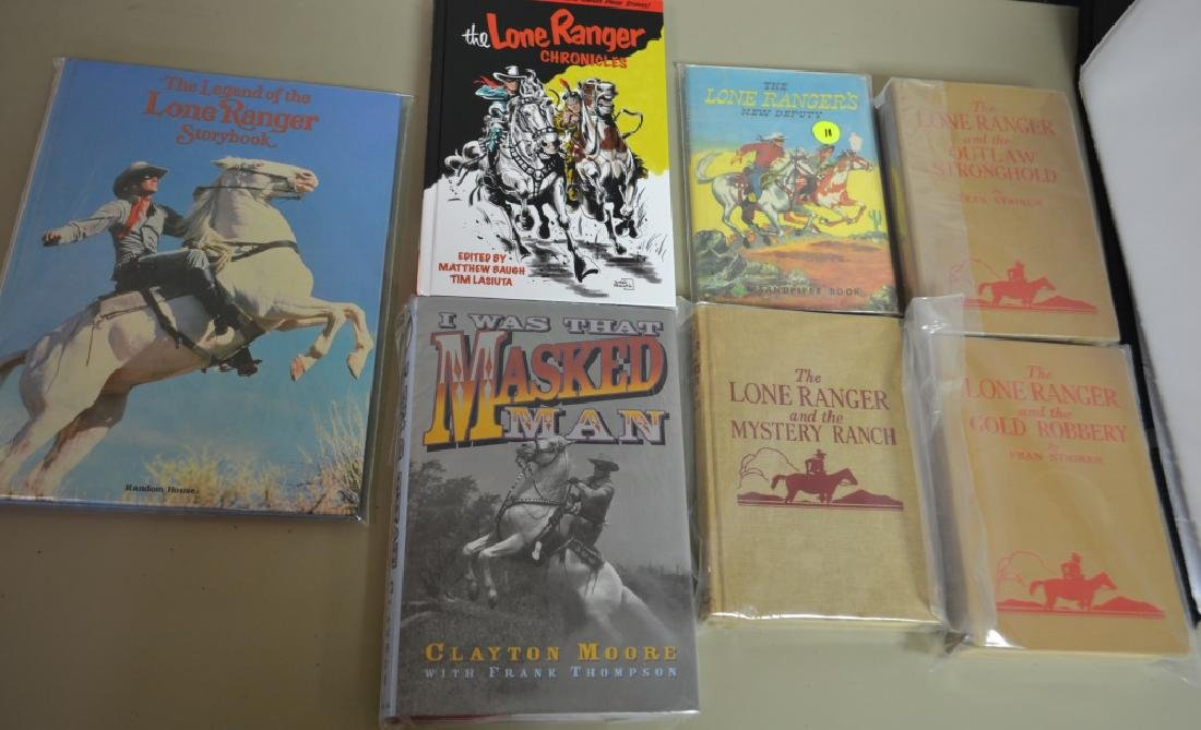 Grouping of 7 Assorted Lone Ranger Books