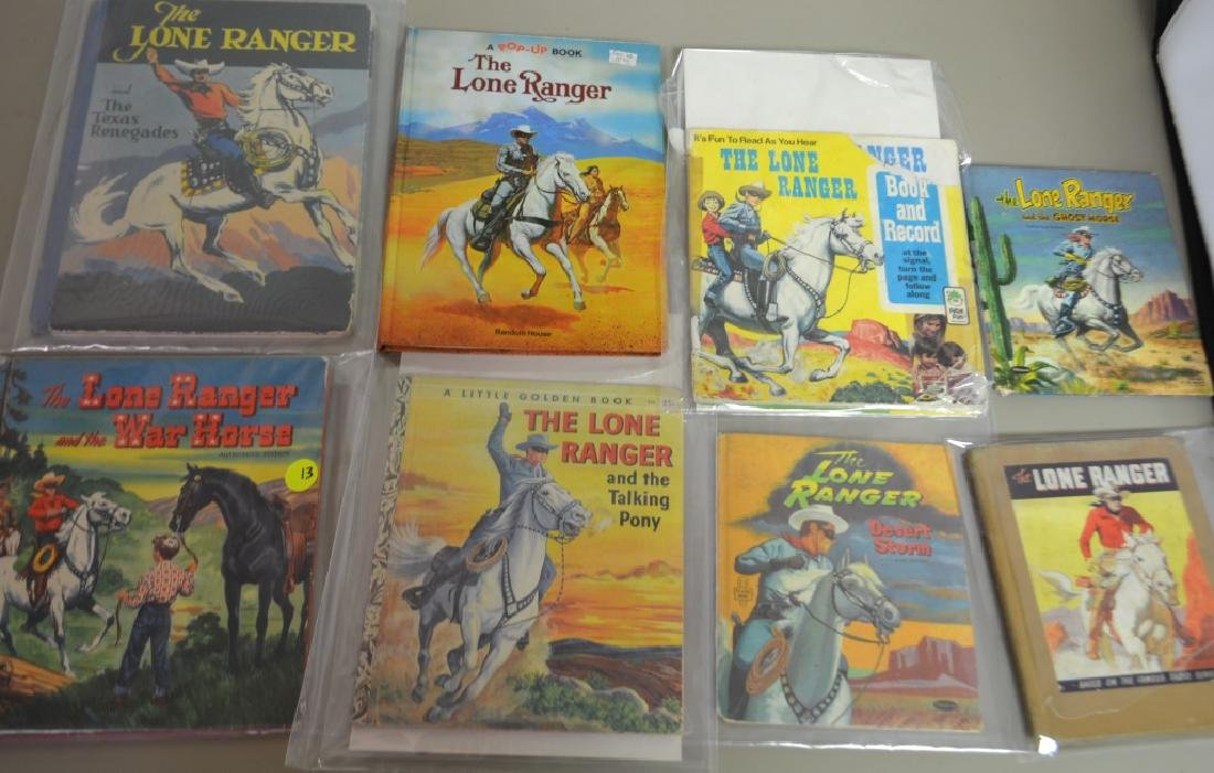 Grouping of 8 Assorted Lone Ranger Books