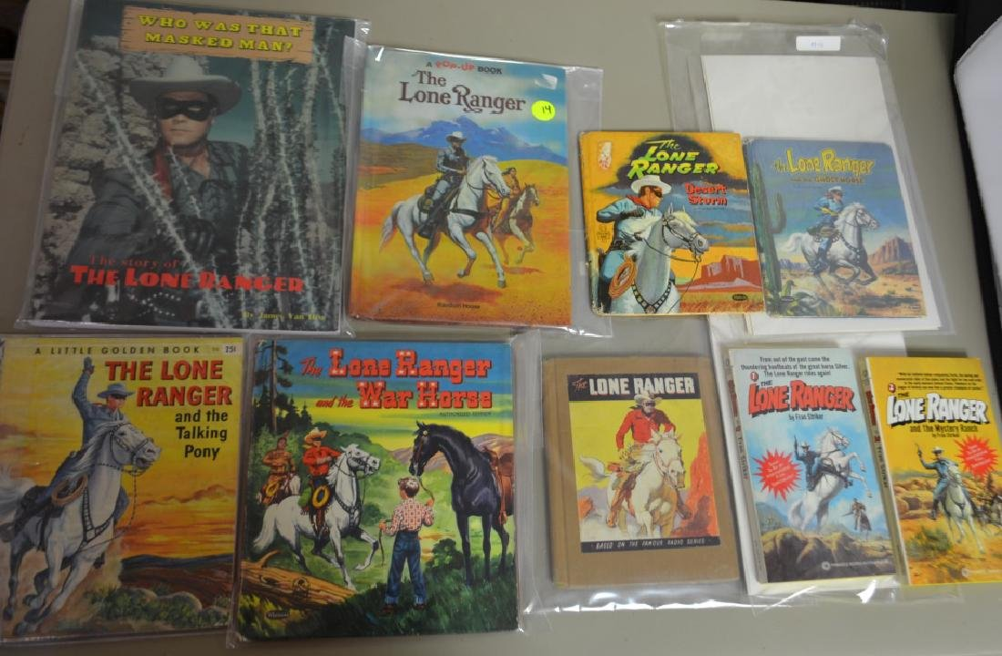 Grouping of 9 Assorted Lone Ranger Books