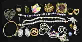 Assorted Grouping of Costume Jewelry