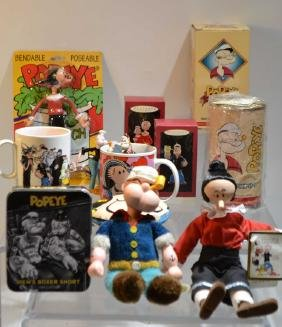 Misc. Grouping Of Popeye Collector Items