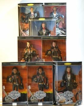 Collection Of Harley Davidson Barbie & Ken Dolls