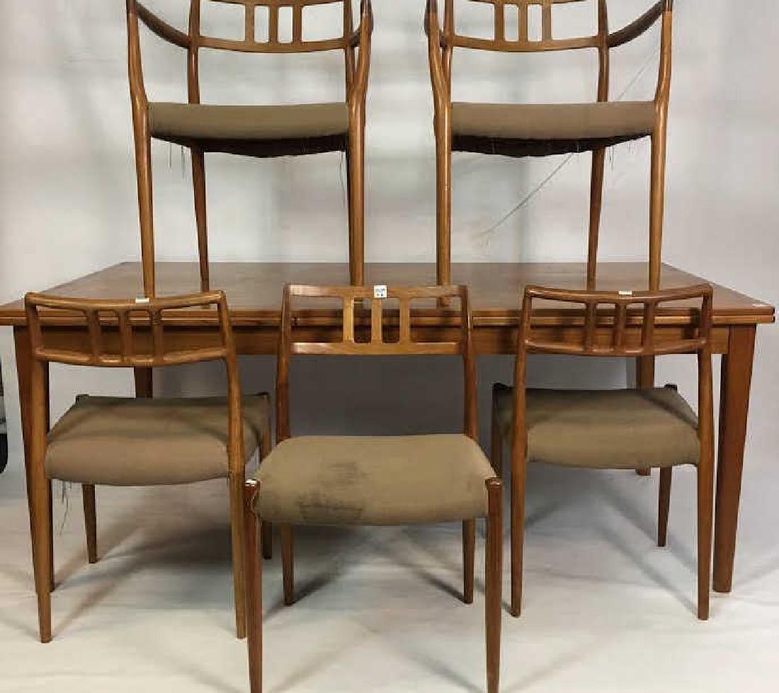 Skovby Teak Dining Room Table & Chairs Mid Century