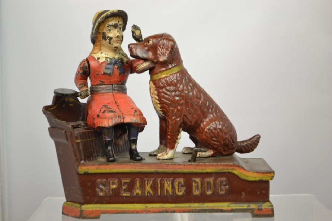 J. & E. Stevens Cast Iron Speaking Dog Mechanical