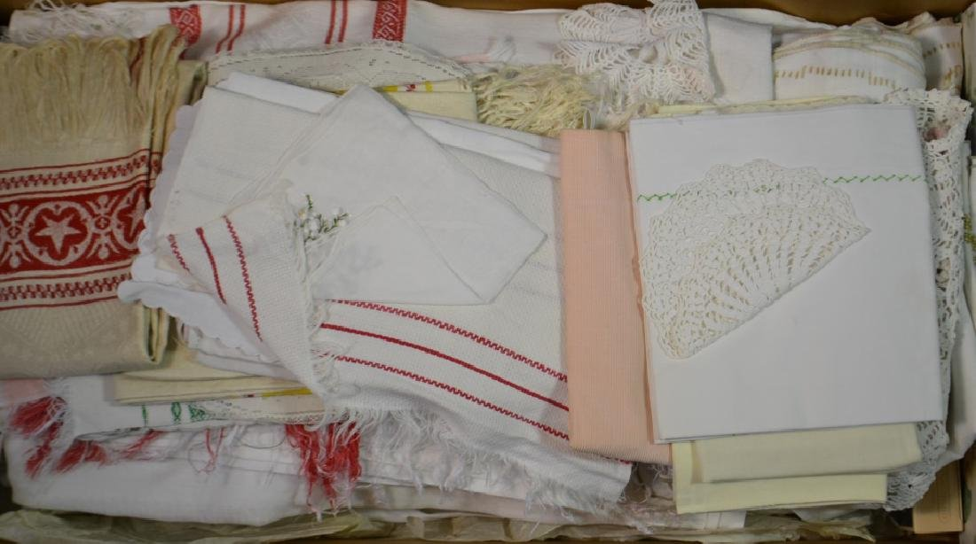 Linen Tablecloths and Vintage Textile Grouping