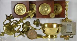 Collection of Brass Items Including Baldwin