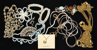 Vintage Rhinestone Costume Jewelry Grouping