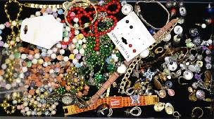 Collection of Costume Earrings  Necklaces