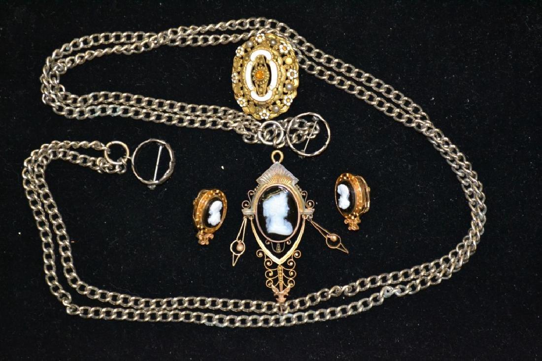 Victorian Costume Jewelry Grouping