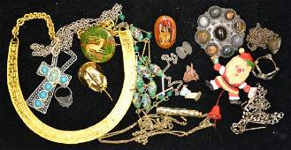 Silver and Costume Jewelry Grouping