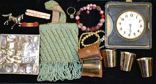 Collection of Vintage Dresser Items & Jewelry