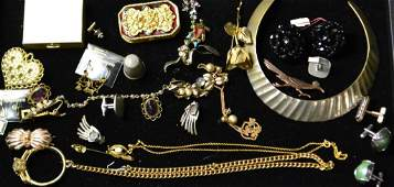 Gold Tone Grouping  Misc Costume Jewelry Lot