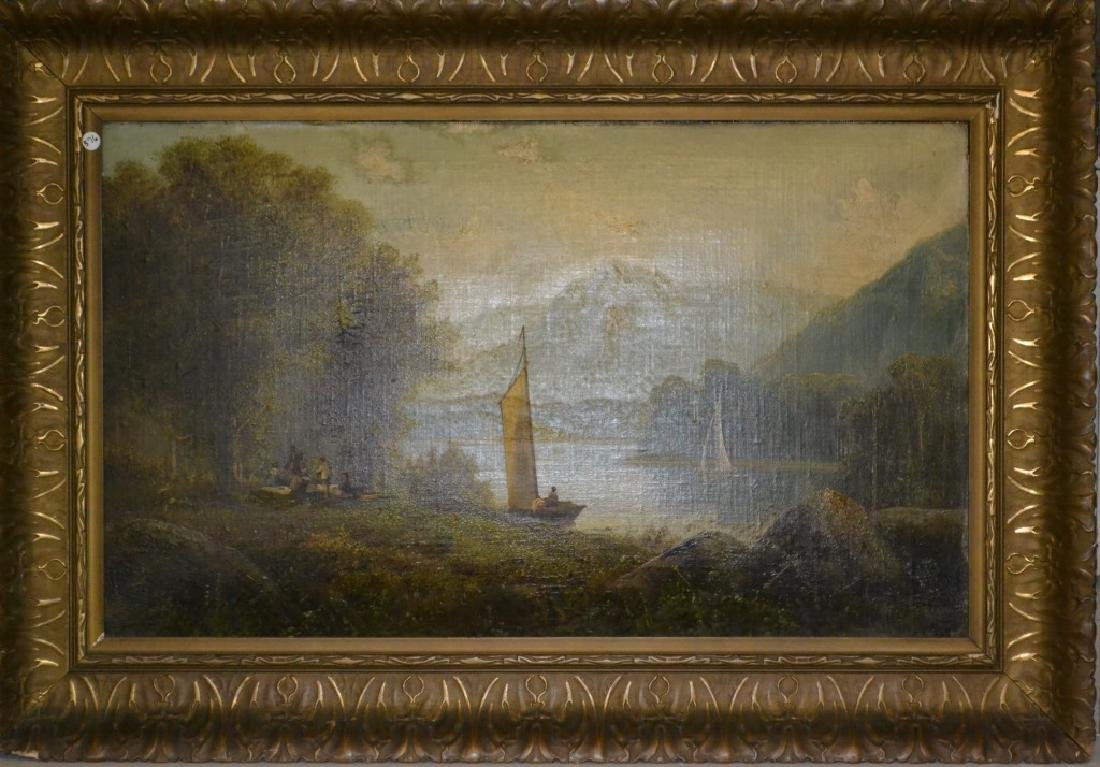 Hudson River Valley Oil on Canvas (1916)