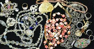 Sterling Silver, Austrian Crystal & Costume Lot