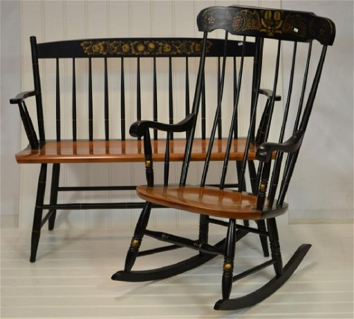 Admirable Hitchcock Furniture Company Settee Rocking Chair Machost Co Dining Chair Design Ideas Machostcouk