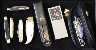 Grouping of 8 Pocket Knives