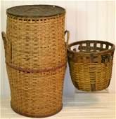 Two Antique Split oak Baskets