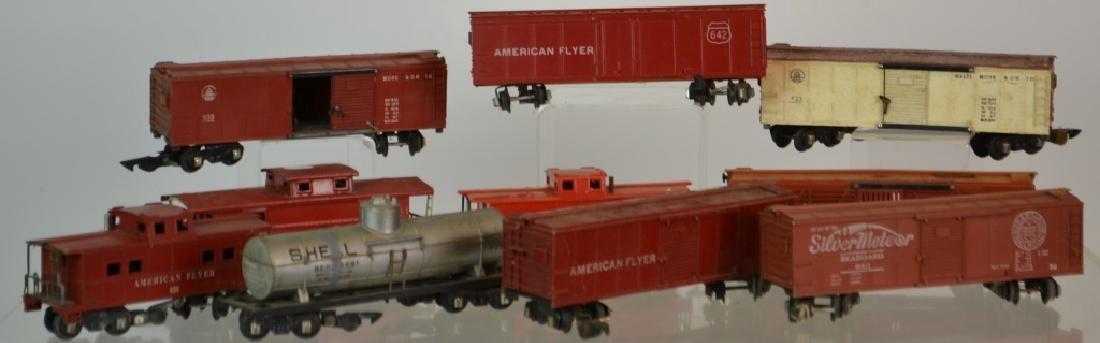 Ten Vintage American Flyer Traincars