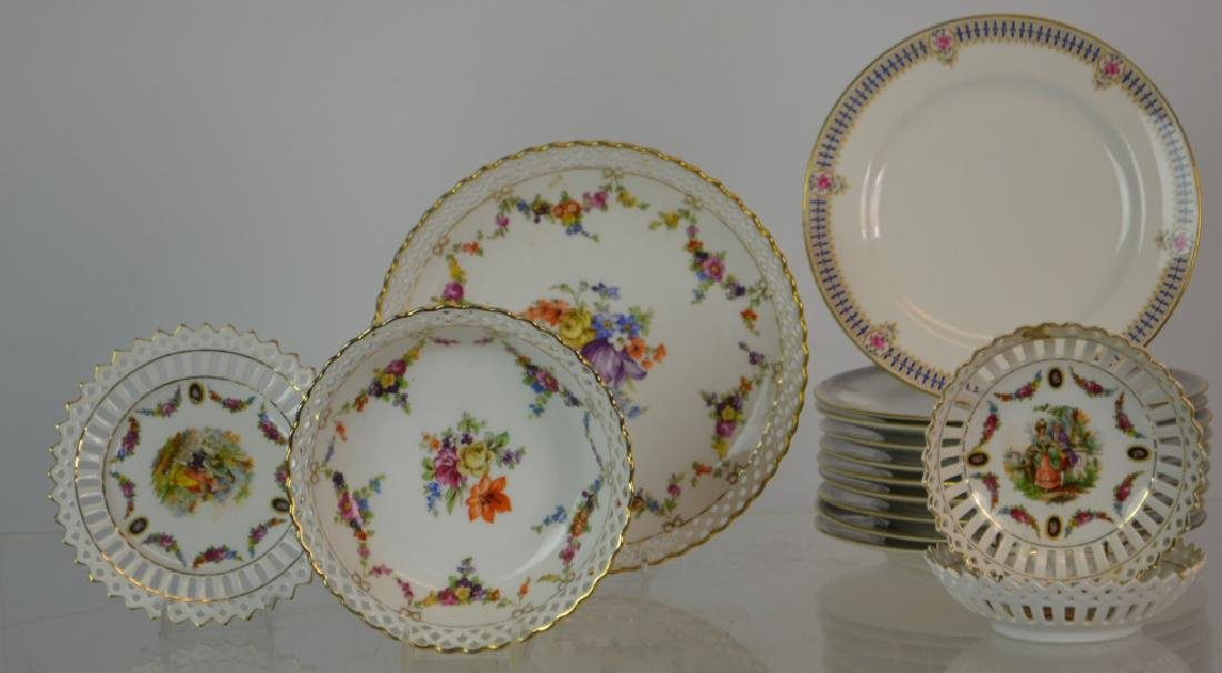 French Limoges and Five German Reticulated Items