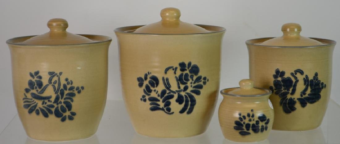 Set of Four Pfaltzgraff Heritage Canisters