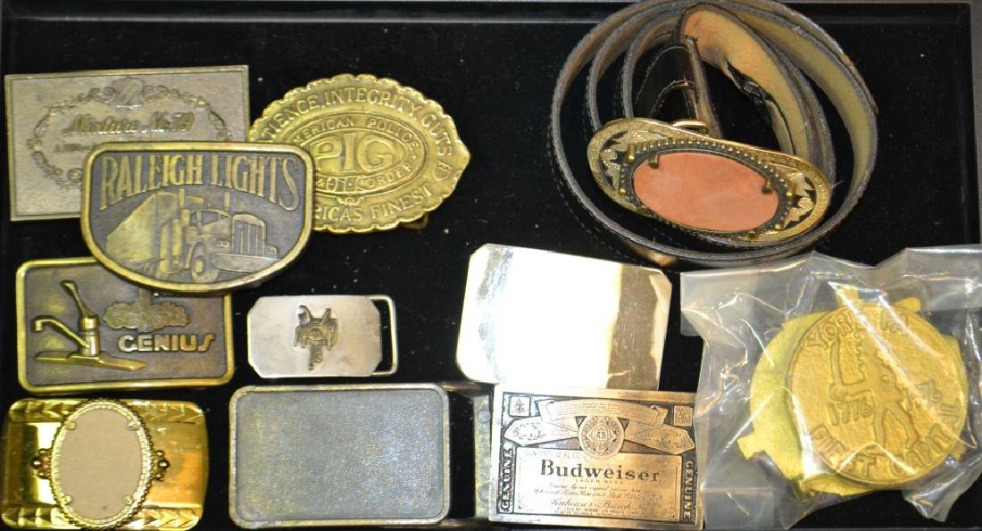 Collection of 11 Belt Buckles